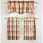 Mystic Plaid 56-Inch x 16-Inch Window Valance in Jewel