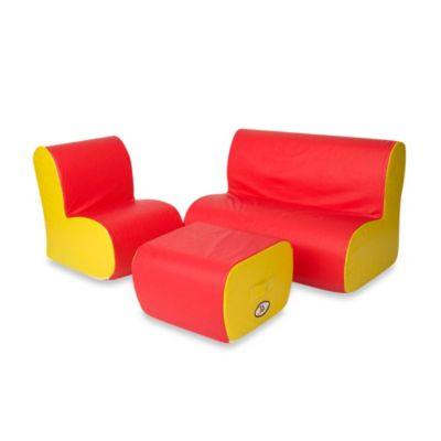 Foamcraft Foamnasium™ Cloud Seating Group in Red/Yellow