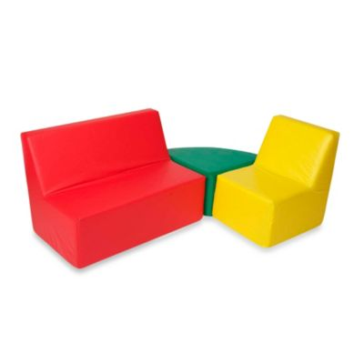 Foamcraft Foamnasium™ Straight Back Seating Group in Red/Yellow/Green