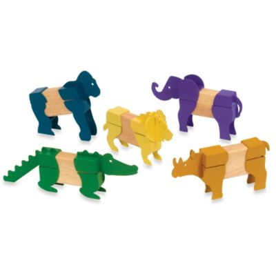 Guidecraft Block Mates Safari Animals