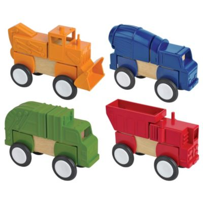 Guidecraft Block Mates Construction Vehicles