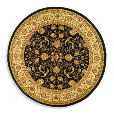 Lyndhurst Collection Ivory 8 Round Rug