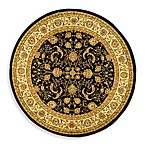 Safavieh Lyndhurst Scroll Pattern 8-Foot Round Rug in Black and Ivory