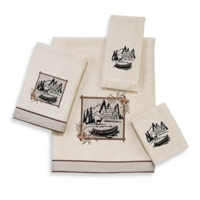Avanti Log Cabin Fingertip Towel