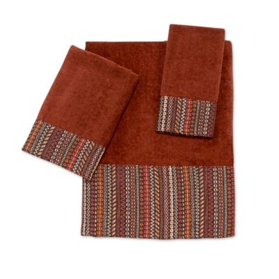 Metallic Brown Bath Towels
