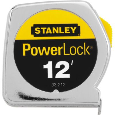 Stanley® PowerLock® 12-Foot Retractable Pocket Tape Rule