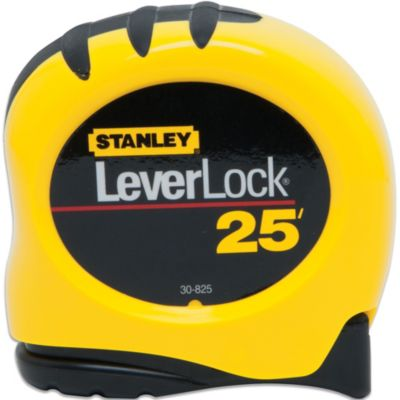 Stanley® LeverLock® 25-Foot Retractable Tape Measure