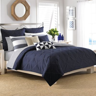 Nautica® Lawndale Coverlet Standard Pillow Sham in Navy