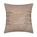 Nautica® Lawndale Knit Square Toss Pillow in Ivory