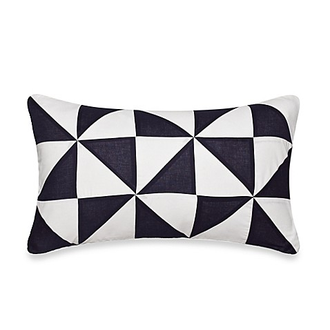Nautica Decorative Pillows Navy : Nautica Lawndale Boudoir Oblong Throw Pillow in Navy - Bed Bath & Beyond