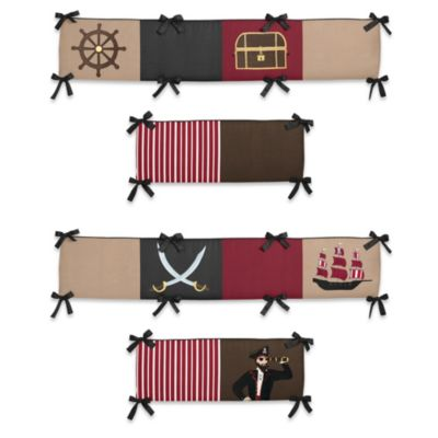 Sweet Jojo Designs Pirate Treasure Cove Crib Bumper