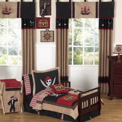 Sweet Jojo Designs Pirate Treasure Cove 5-Piece Toddler Bedding Set
