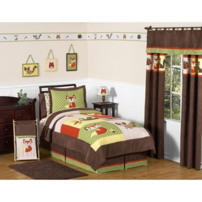 Sweet Jojo Designs Forest Friends 4-Piece Twin Comforter Set