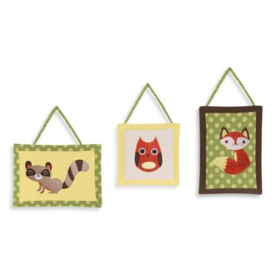 Sweet Jojo Designs Forest Friends 3-Piece Wall Hanging Set