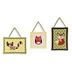 Sweet Jojo Designs Forest Friends 3-Piece Wall Hanging Set