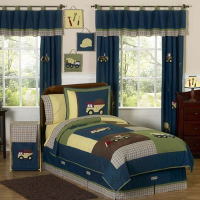Sweet Jojo Designs Construction Zone 4-Piece Twin Bedding Set
