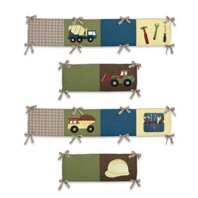 Sweet Jojo Designs Construction Zone 4-Piece Crib Bumper
