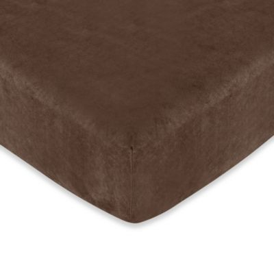 Sweet Jojo Designs Construction Zone Fitted Crib Sheet in Chocolate
