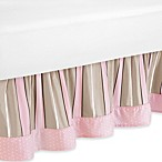 Sweet Jojo Designs Mod Dots Queen Bed Skirt in Pink/Chocolate