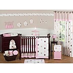 Sweet Jojo Designs Mod Dots Crib Bedding Collection in Pink/Chocolate