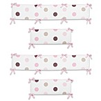 Sweet Jojo Designs Mod Dots Collection Crib Bumper in Pink/Chocolate