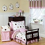 Sweet Jojo Designs Pink and Chocolate Mod Dots 5-Piece Toddler Bedding Set