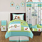 Sweet Jojo Designs Hooty Bedding Collection in Turquoise/Lime