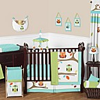 Sweet Jojo Designs Hooty Crib Bedding Collection in Turquoise/Lime
