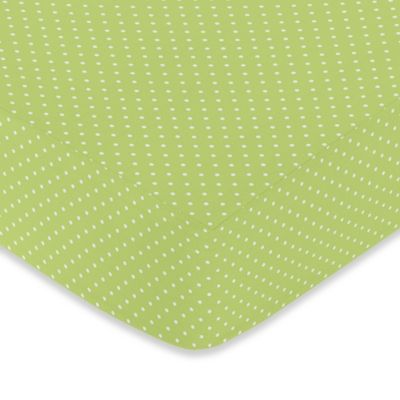 Sweet Jojo Designs Hooty Collection in Turquoise/Lime > Sweet Jojo Designs Hooty Fitted Crib Sheet in Lime Mini Dot