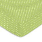 Sweet Jojo Designs Hooty Fitted Crib Sheet in Lime Mini Dot