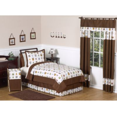Sweet Jojo Designs Night Owl 4-Piece Twin Comforter Set