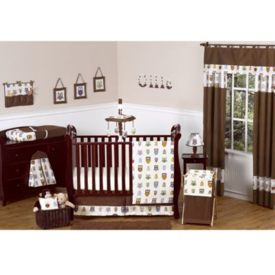 Sweet Jojo Designs Night Owl Crib Bedding Collection > Sweet Jojo Designs Night Owl 11-Piece Bedding Set