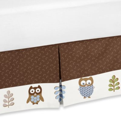 Sweet Jojo Designs Night Owl Toddler Bed Skirt