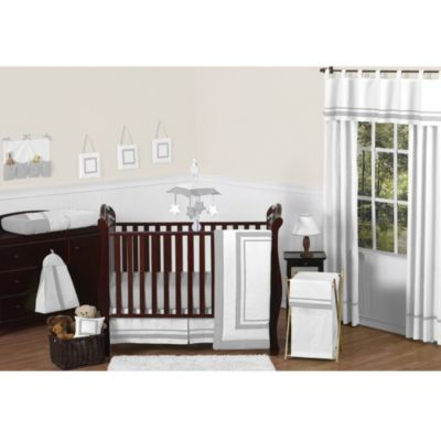 Sweet Jojo Designs Hotel 11-Piece Crib Bedding Set in White/Grey