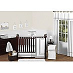 Sweet Jojo Designs Hotel Collection Crib Bedding Collection in White/Grey