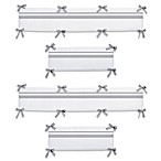 Sweet Jojo Designs Hotel Collection Crib Bumper in White/Gray