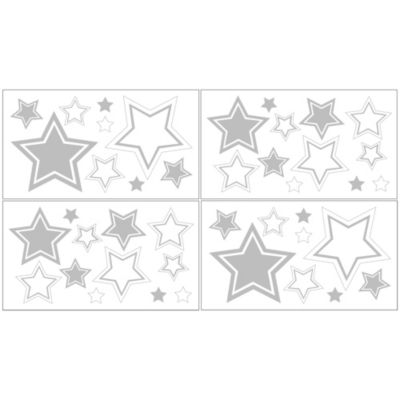 Sweet Jojo Designs Hotel Wall Decals in White/Grey