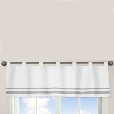Sweet Jojo Designs Hotel Window Valance in White/Grey