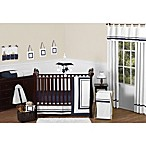 Sweet Jojo Designs Hotel Crib Bedding Collection in White/Navy
