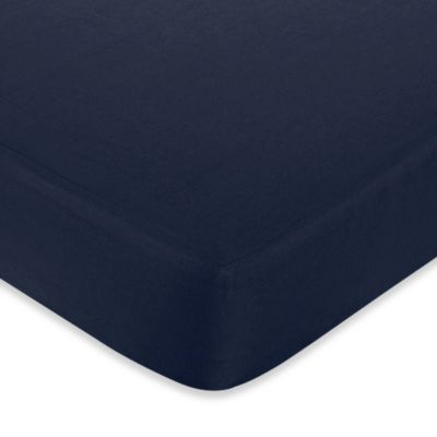 Sweet Jojo Designs Hotel Fitted Crib Sheet in Navy