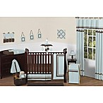 Sweet Jojo Designs Hotel 11-Piece Crib Bedding Set in Sky Blue/Chocolate Brown