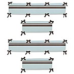 Sweet Jojo Designs Hotel Crib Bumper in Sky Blue/Chocolate Brown