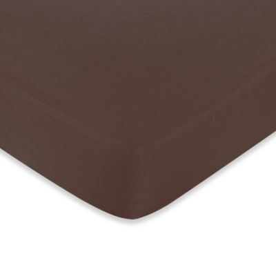 Sweet Jojo Designs Hotel Fitted Crib Sheet in Chocolate Brown