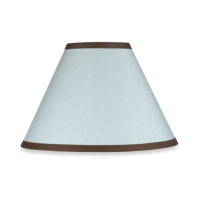 Sweet Jojo Designs Hotel Lamp Shade in Sky Blue/Chocolate Brown