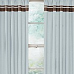Sweet Jojo Designs Hotel Window Panels in Sky Blue/Chocolate Brown (Set of 2)