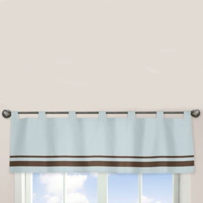 Sweet Jojo Designs Hotel Window Valance in Sky Blue/Chocolate Brown