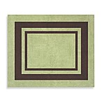 Sweet Jojo Designs Hotel Accent Floor Rug in Green/Chocolate Brown