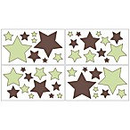 Sweet Jojo Designs Hotel Wall Decals in Green/Chocolate Brown (Set of 4)
