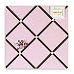 Sweet Jojo Designs Hotel Fabric Memo Board in Pink/Chocolate Brown