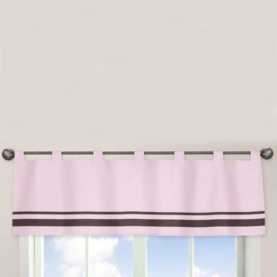 Sweet Jojo Designs Hotel Window Valance in Pink/Chocolate Brown
